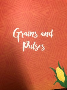 Beautiful design of Grains and Pulses page